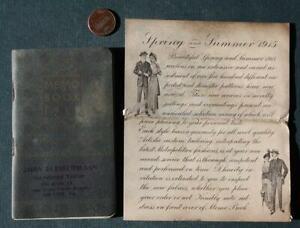 1915 Oil City,Pennsylvania Clothing Store pocket memo booklet-Woodrow Wilson!