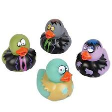 4 Count Zombie Style Rubber Ducks 2 Inches Tall Toy Prank Gag