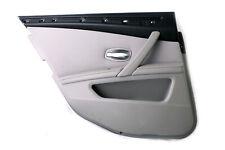 *BMW 5 Series E60 E61 LCI Rear Left Door N/S Card Trim Panel Grey Cloth