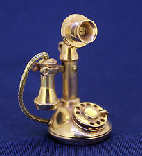 ANTIQUE TELEPHONE PENDANT REAL SOLID 14 K GOLD 14.7 g