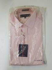 NEW ALEXANDER JULIAN MENS BUTTON UP DRESS SHIRT 15.5 34 PINK