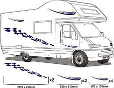 MOTORHOME VINYL GRAPHICS STICKERS DECAL SET CAMPER VAN RV CARAVAN ANY COLR set11