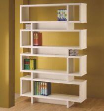 Retro Bookcase Mid Century Modern Style Bookshelves Wall Book Shelves White