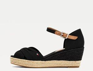 Tommy Hilfiger Basic Open Toe Mid Wedge Sandals, UK 4,5,6,7