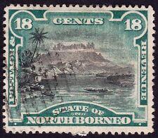 NORTH BORNEO 1894 18c Isc#68 P15  CTO paper stuck down on gum @E2170