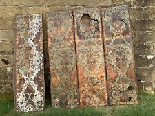 More details for antique country house leatherwork screen for restoration/repair