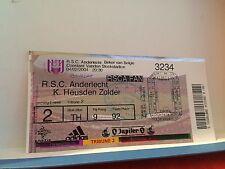 Football Ticket - RSCA Anderlecht - K Heusden Zolder - 2004