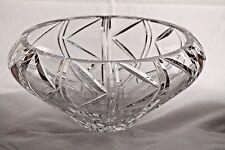 Genuine Hand Cut 24% Lead Crystal Vase/Bowl Poland Collectible Decorative Heavy