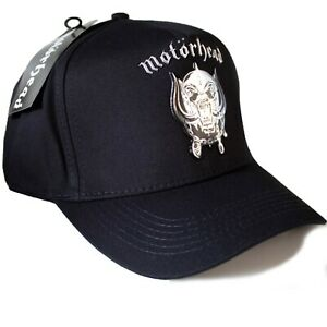 Motorhead - Warpig Metallic Silver Applique Logo Official Licensed Baseball Cap