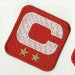 2019 SUPER BOWL 54 49ers CAPTAIN'S  2-⭐-STAR WHITE Captains C-PATCH RED Iron-on