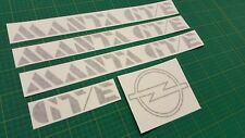 VAUXHALL OPEL MANTA GTE GT/E B2 1982 - 1988 decals stickers restauration