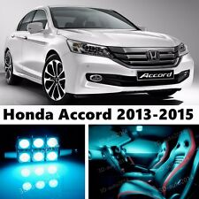 15pcs LED ICE Blue Light Interior Package Kit for Honda Accord 2013-2015
