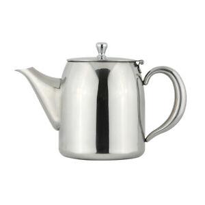 Apollo Stainless Steel 1L Teapot Traditional Basic Simple Plain Tea Pot Boxed
