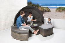 Liegeinsel Florida cubu mix Lounge Sonnenliege Polyrattan Gartenliege Sunlounger