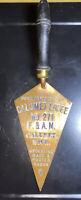 Antique Copper Fraternal Master Masonic Order from Calumet Lodge, Calumet MI