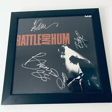 U2 signed vinyl record by all 4 members