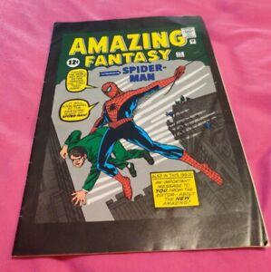 2001 Vintage Amazing Fantasy Spider Man Comic Book/Magazine With Ads