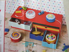 4 Yo-Yo Spins full colour cross stitch charts designed by Jenny Barton