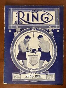 June 1925 Ring Magazine Boxing Gene Tunney Tommy Gibbons Cover Jack Dempsey