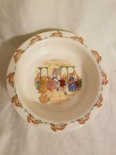 Royal Doulton Bunnykins 1936 Bunny Baby Plate Porridge Bowl Post office NWT