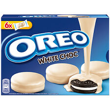 OREO Choc White -WHITE Chocolate covered cookies -Made in Spain -246g