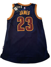 New Hot Lebron James Cavaliers Mens Size Sm Navy Adidas Swingman Rare Jersey NWT