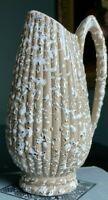 MCM Savoy China 'Deena' Art Pottery 24K & White Splatter on Taupe Pitcher Vase