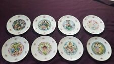 8 - Royal Doulton Valentine Day Collector Porcelain Plates From 1976 To 1985