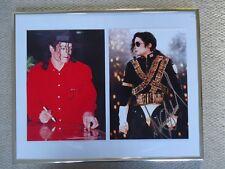 MICHAEL JACKSON AUTOGRAPHED PHOTO + AUTOGRAPHING BACKSTAGE UNIQUE UNRELEASED1996