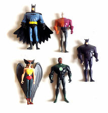 "DC Comics Justice League 5"" toy figure Set, Hawk Girl, BATMAN, Gatto Selvatico, Lanterna"
