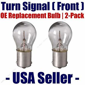 Front Turn Signal Light Bulb 2pk - Fits Listed GMC Vehicles - 1073