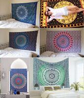 Indian Mandala Tapestry  Wall Hanging Hippie Twin Bedspread Decor Throw Bohemian
