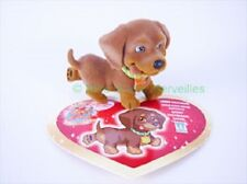 Figurine PICCOLO ou LILLY le Basset + sa carte - Puppy  in my Pocket Série 1