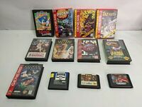 Sega Genesis Games Lot of 12 Sonic X-Men 2 Batman Forever NBA Jam Madden 94 Clue