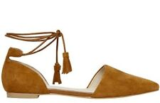 Seed 👠 41 Or 10 New Suede Leather Tan Molly Tassel Ballet Shoes Flats Sandals