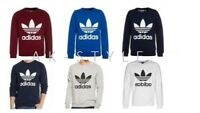 MENS ADIDAS ORIGINAL TREFOIL SWEAT SHIRT CREW NECK JUMPER SHIRT SPORTSWEAR S-XL