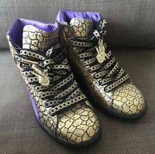 Rare Limited Puma x Han Cholo First Round Goldie Han Sneakers Purple/Gold SZ 6