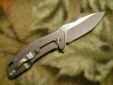 Couteau Kershaw Eris A/O Acier 8Cr13MoV Stonewash Manche Acier/Titane KS1881