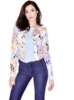 Guess By Marciano Zinnia Denim Jacket Floral Print Size M