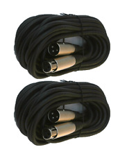 2 lot 10ft xlr male to female 3pin MIC Shielded Cable microphone audio cord pack