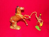 Schöner Mustang seltenes Pferd von Marolin mit Indianer Pferdefänger