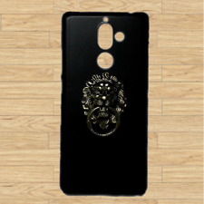 For Nokia Bronze Lion Head Finger Ring Stand Holder Black Back Hard Case Cover