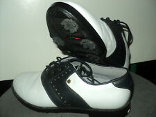 Mens Saddle Golf Shoes- Adidas Black And White Size 8.5