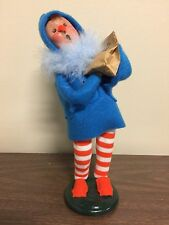 "Byers Choice Halloween Caroler Bird Seed 9"" Tall New Free Ship"