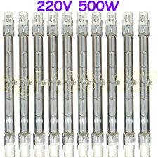 10 HALOGEN LIGHT BULB 220-240V 500W 500 WATT J TYPE T3 118mm (R7s) Halogen Bulbs