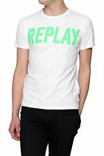 Replay unifarbene Herren-T-Shirts aus Baumwolle