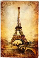 Superbe Style Antique Tour Eiffel Paris Toile #425 qualité Paris Toile photo