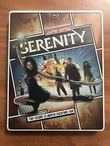 Serenity Steelbook (Blu-ray/DVD, 2013, 2-Disc Set)