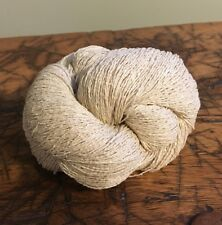 Tsumugi Silk Noil Yarn, 2 Ply, Lace Weight, 10Nm/2, 100 Grams, Made in Italy