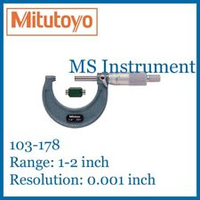"Genuine Mitutoyo 103-178 Outside Micrometer 1-2"" Inch Imperial Australia Stock"